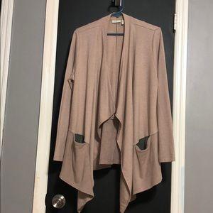 LOGO Lounge Cardigan with Single Button Closure